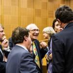 Ambrogio Crespi e Marco Pannella alla Camera