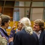 Ambrogio Crespi con Marco Pannella e Francesca Scopelliti