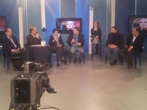 Ambrogio Crespi Andrea Mancia e Francesca Scopelliti a TeleAcras 4