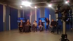 Ambrogio Crespi Andrea Mancia e Francesca Scopelliti a TeleAcras