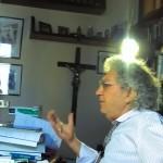 Ambrogio Crespi sul set